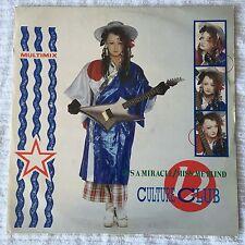 "Culture Club Boy George - It's A Miracle / Miss Me Blind Remix 12"" Vinyl single"