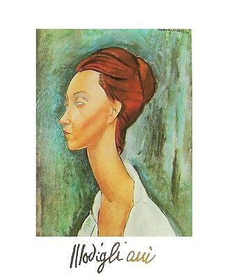 Amedeo Modigliani Selbstportrait Poster Kunstdruck Bild 30x24cm