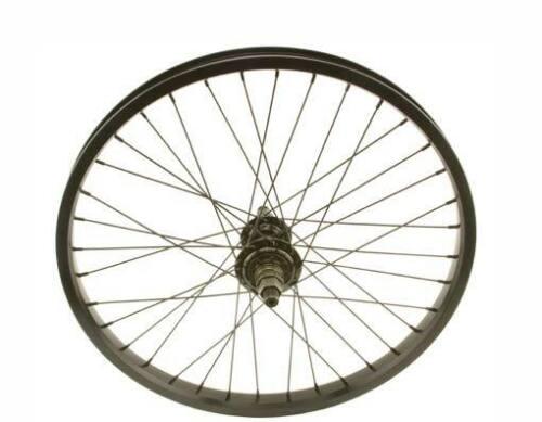 """20/"""" BMX Bike Rear Double Walls Wheels 14mm 9T Sealed Bearing 36 spokes Black"""