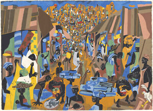 Jacob Lawrence : Street to Mbari : Archival Quality Art Print