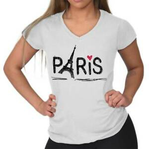 Paris Eiffel Tower French France Romantic Graphic Gift Girls T Shirt Tee