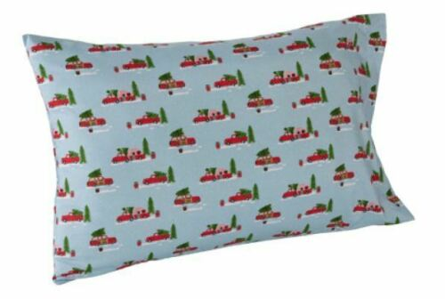 CHRISTMAS TREE CAR CARAVAN HOLIDAY SHEET SET FLAT FITTED KING QUEEN FULL TWIN