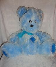 "Peek-a-Boo Blue Teddy Bear Patches 18"" Plush Soft Toy Stuffed Animal"