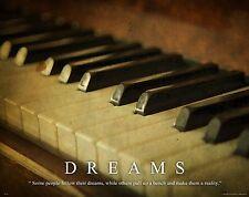 Musical Instruments Motivational Poster Art Print Piano Band Sheet Music MVP204