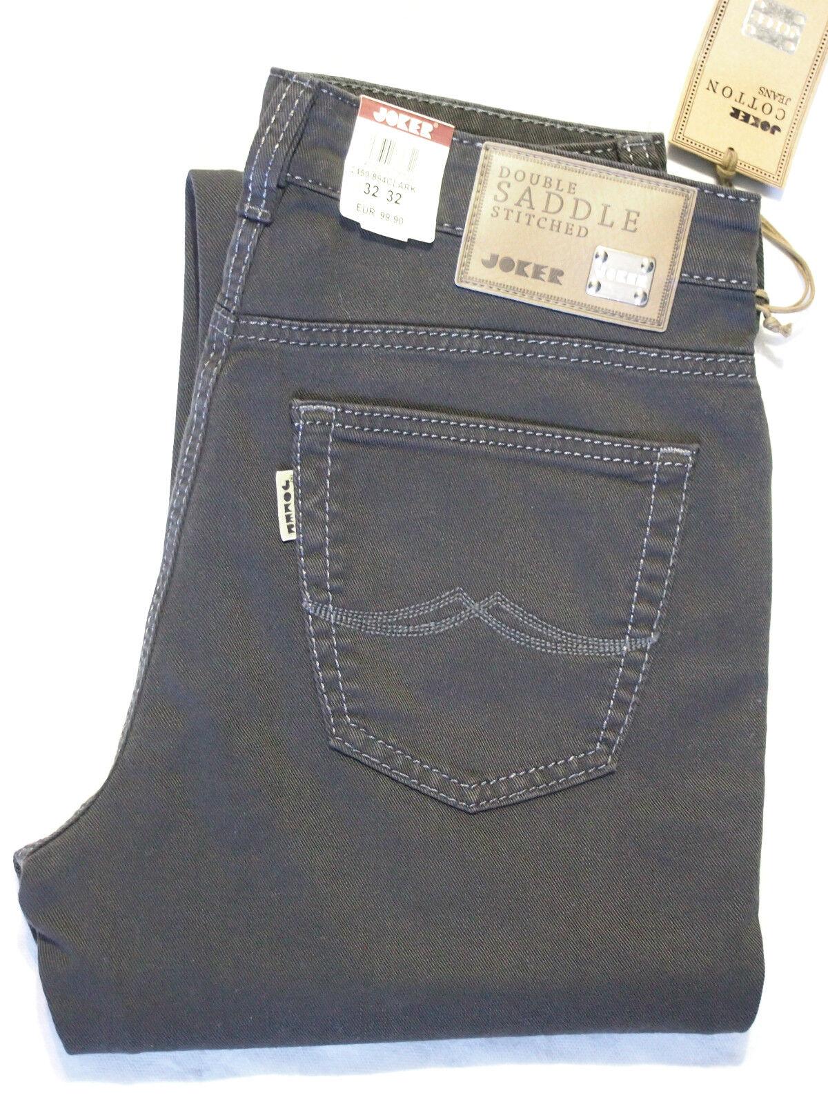 JOKER Jeans Clark Clark Clark coloredenim + elasticizzato 2450 894 ANTRACITE gr. VON 32 32 546918