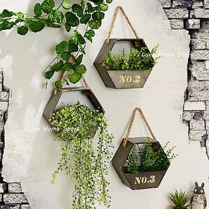 Image Is Loading Metal Hanging Plant Pot Wall Mounted Flower Basket