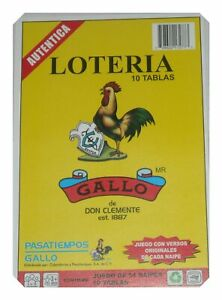 Loteria-10-Different-Boards-1-Deck-54-Cards-Mexican-Bingo-Authentic-Don-Clement