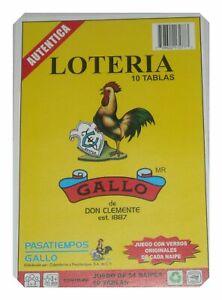 Loteria-Bingo-Mexicana-10-tableros-de-juego-54-cartas-para-juegos-autentico-Don-Clemente