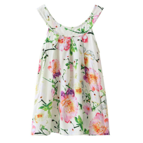 Kid Toddler Baby Girl Summer Holiday Floral Sleeveless Party Pageant Tutu Dress