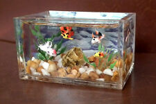 1/12, dolls house miniature Fish Tank Aquarium Bowl Handmade Rare Table Desk LGW