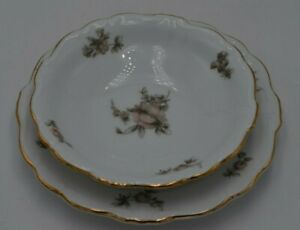 Vintage-Johann-Haviland-Bavaria-Dessert-Plate-and-Dessert-Bowl
