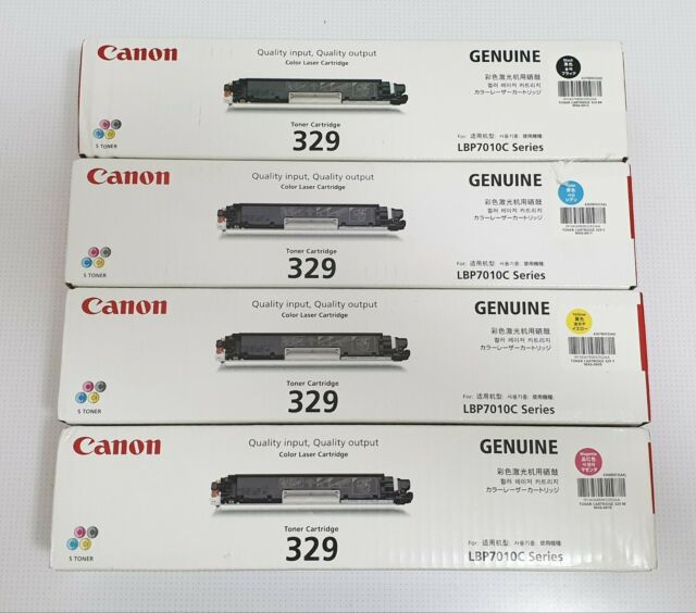 CANON 329 Set Genuine Toner Cartridges Black Cyan Yellow Magenta For LBP7010C