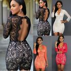 Women's Sexy Summer Bandage Bodycon Lace Evening Party Cocktail Short Mini Dress