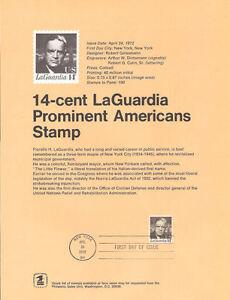 7203-14c-LaGuardia-Stamp-1397-Souvenir-Page-w-Eagle-Watermark