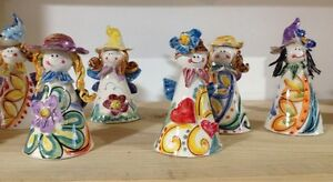 Ceramica vietri fatine campanelle x bomboniere ebay