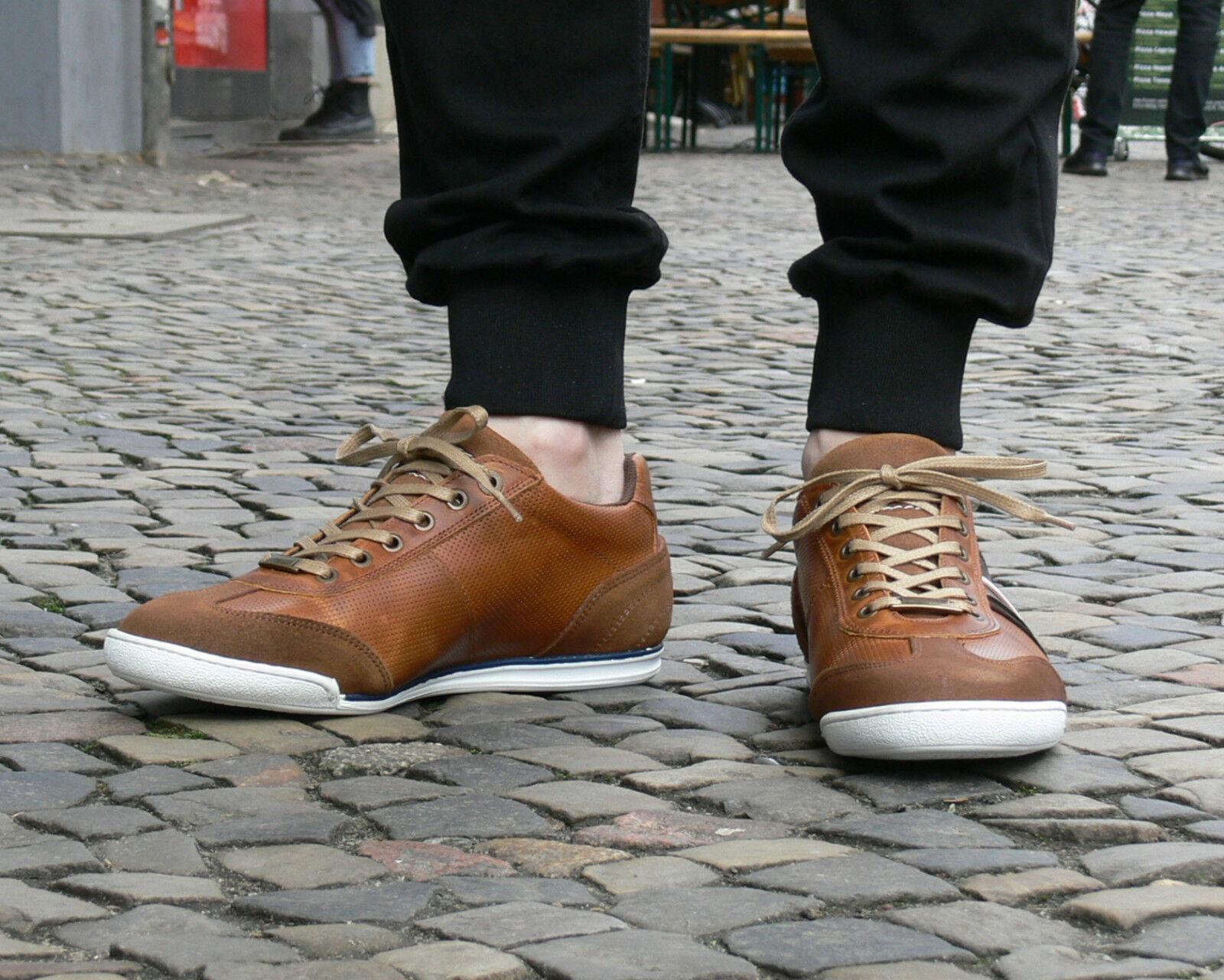 BULLBOXER Schnürschuh 27 braun 531 Echtleder Halbschuh Herrenschuh Sneaker neu