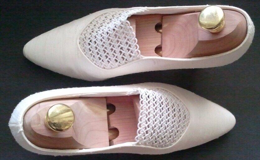 Pumps bride shoes + Rainbow Club + Colour  Ivory + silk + Satin + unworn