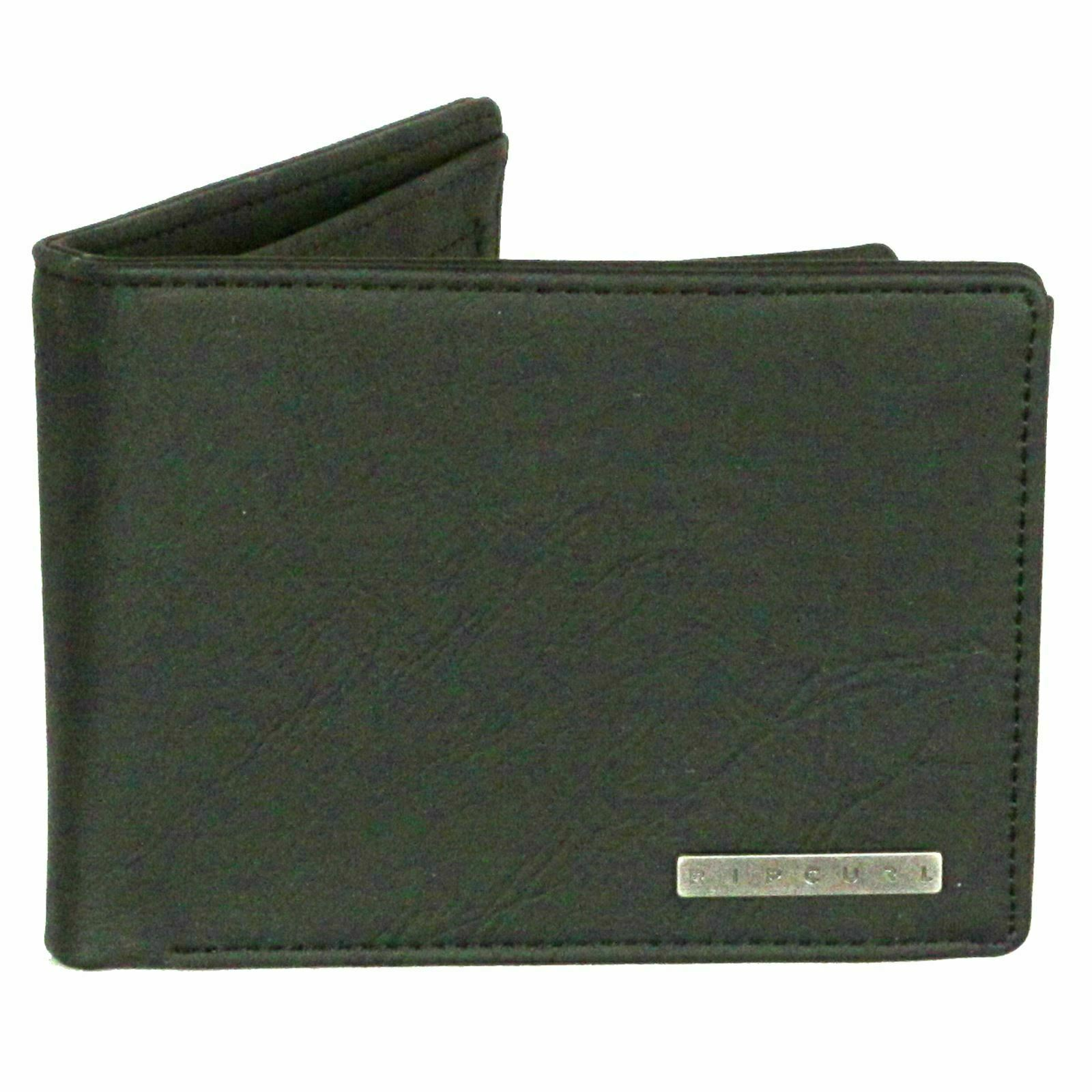 Rip Curl Wallet with CC, note and Coin ~ Rockered black NEW FREE P&P