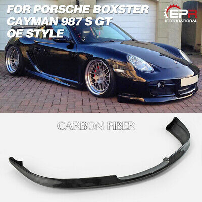Carbon Fiber Front Bumper Canard For Porsche 06-12 Cayman 987 EPA Style Trim