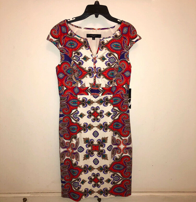 Nine West Paisly dress sz 6