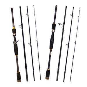 Reise-Bootsrute-Spinnrute-Fliegenrute-Angelrute-aus-Kohlefaser-mit-EVA-Griff