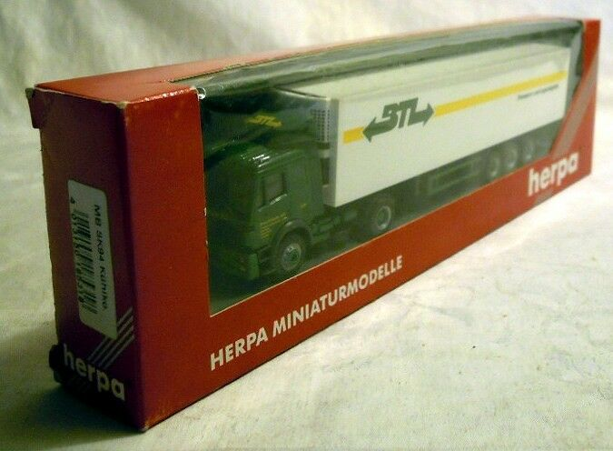 Herpa Herpa Herpa 185318  MB Actros Kühlkoffer-Sattelzug  BTL , Modell in H0, NEU & OVP 7d16e4