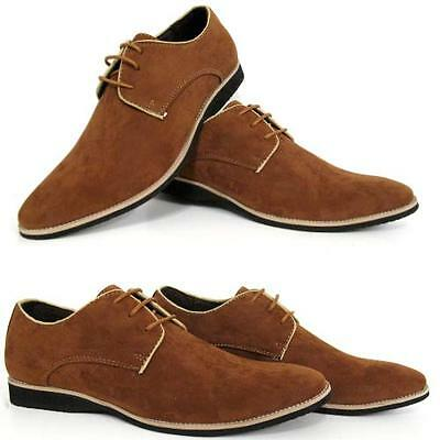 Mens Smart Shoes Gents Faux Suede Italian Party Evening Wedding Formal Shoe Size