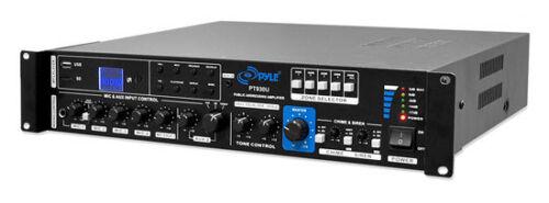 Pyle PT930U PA Amplifier 750 Watt Amplifier with 5 Mic Inputs