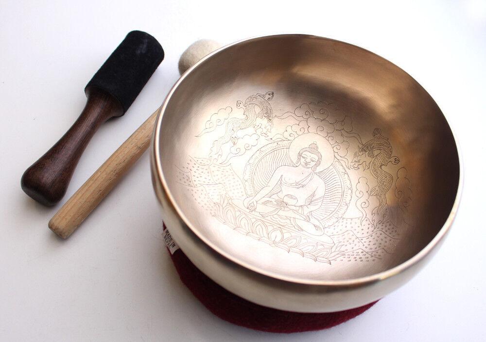 Ratnasambhav with Dragon Carved Hand HammeROT Singing Bowl 8