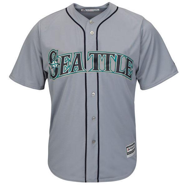 MLB Baseball Trikot Seattle Mariners grey Road Cool base Majestic Jersey