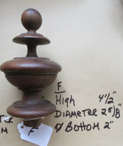 URN STYLE ANTIQUE VICTORIAN WALNUT FURNITURE FINIALS YOUR CHOICE buy 1 or all
