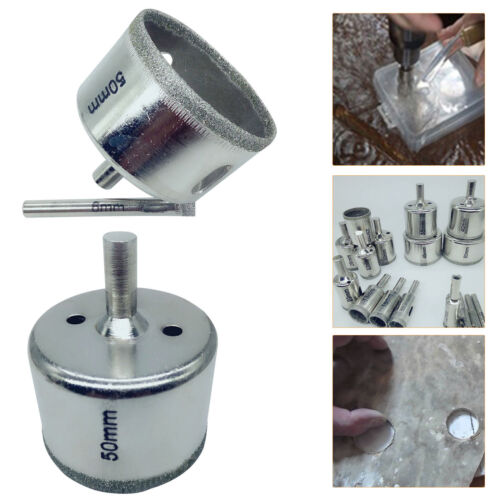 16Pcs Diamond Holesaw Drill Bit Set Tile Porcelain Glass Marble Ceramic Cutter