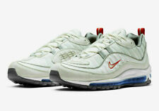 newest 2d596 d2bb5 Nike Air Max 98 Summit White Size 9 Metallic Silver Red Blue Cd1538 100
