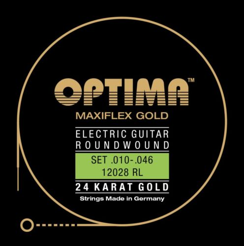 OPTIMA MAXIFLEX 24K GOLD STRINGS E-Gitarren Saiten SATZ Strings SET