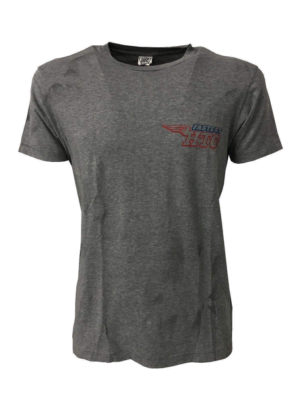 HTC T-Shirt mit kurzen Ärmeln 100% Baumwolle mit Pinselstriche made in italy
