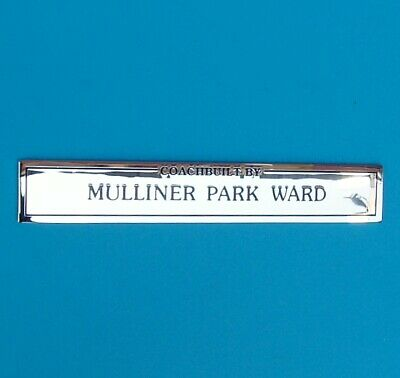 "Brand New Strong-Willed Rolls Royce Bentley ""mulliner Park Ward"" Badge Mint Removing Obstruction"