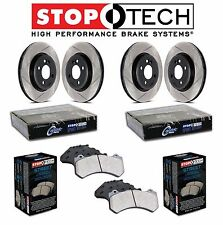 Audi S4 S5 08-11 Front and Rear StopTech Slotted Brake Rotors Street Pads Kit