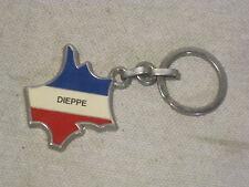DIEPPE souvenir Presti France unique keychain key chain metal enamel