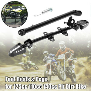 Side-Foot-Peg-Footpeg-Mount-Rest-Kick-Stand-Fits-Pit-Dirt-Bike-110cc