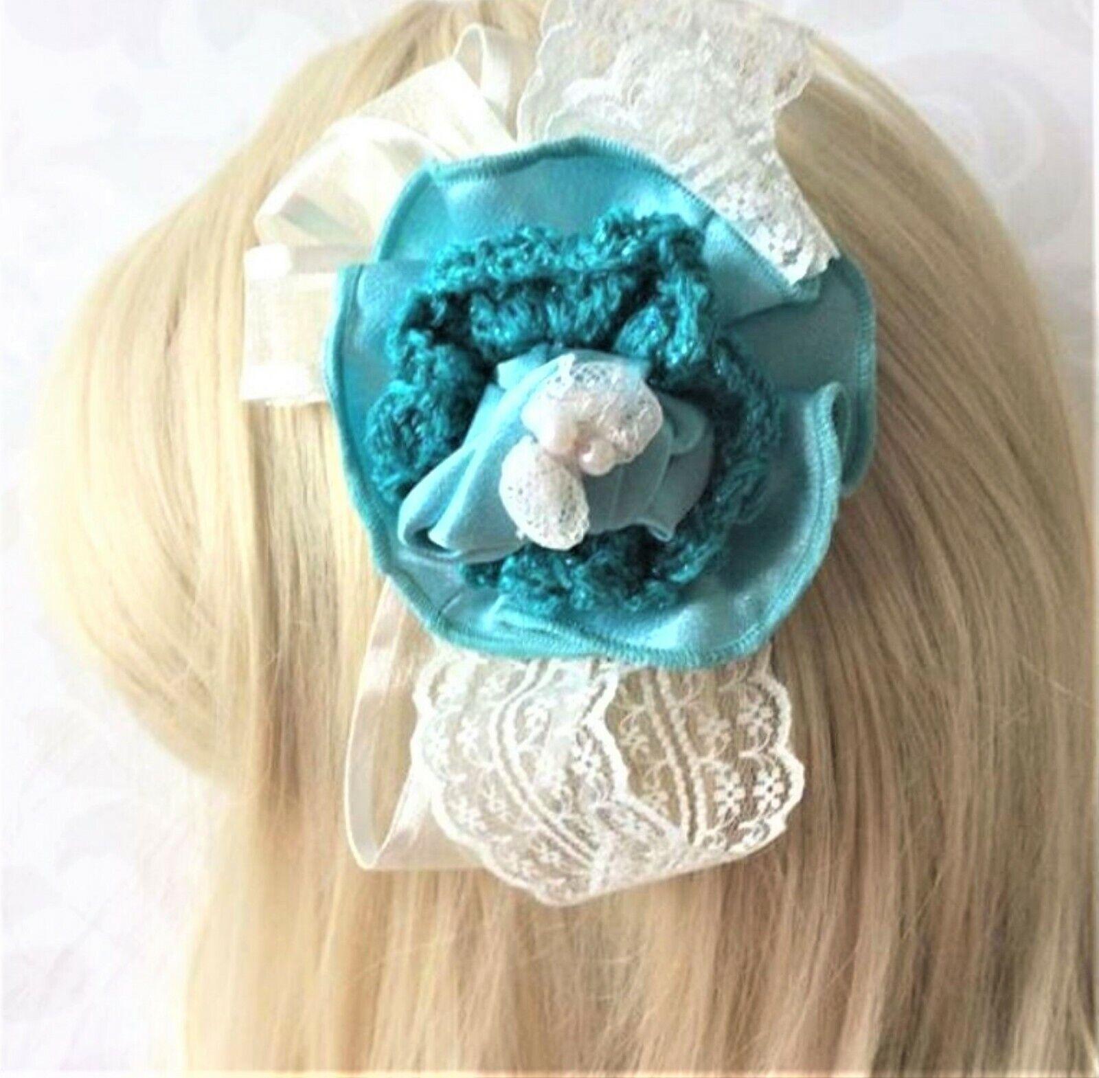 fascinator, Hair bow clip, Party Bridesmaid flower girl, Birthday flower UK