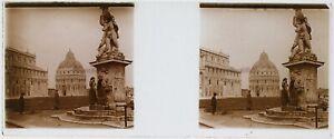 Pisa Italia Foto PL53L6n10 Stereo Placca Da Lente Vintage
