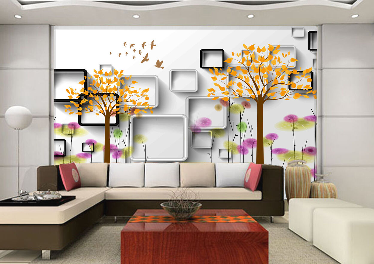 3D Graffiti tree 108 Wall Paper wall Print Decal Wall Deco Indoor wall Mural