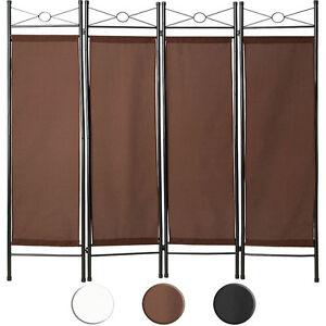 4tlg-Raumteiler-Trennwand-Paravent-Umkleide-Sichtschutz-Spanische-Wand