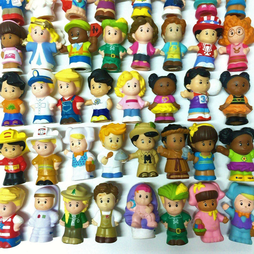 Random 15pcs 2 Fisher-Price Little People Figures Kid toy Cute Toys Collection