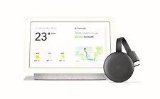Google Home Hub Chalk and Chromecast 3rd Gen Bundle