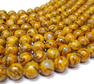 Leopardskin-Jaspis-Natur-Edelstein-Perlen-Kugeln-10mm-Schmucksteine-BEST-G868