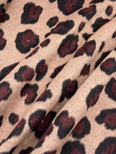 Mantelstoff Stoff Leopard Tiermuster sand ab 50 cm