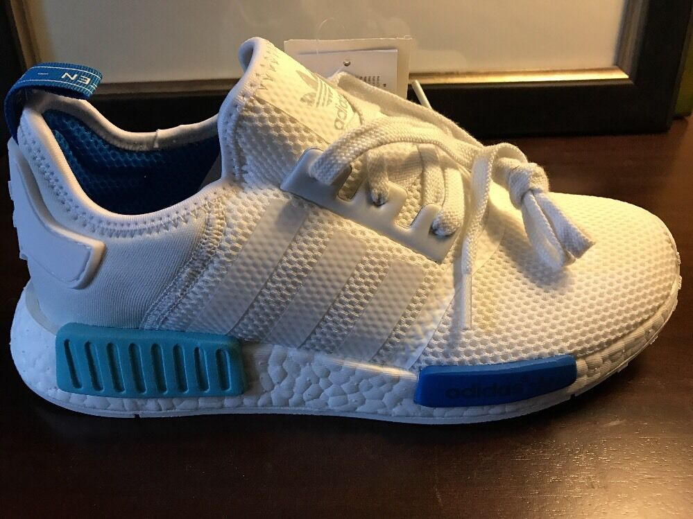 Adidas. Nmd. blueE GLOW. W. RARE. US WOMENS Size 8. US Men's Size 7