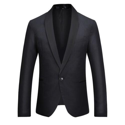 BG/_ Stylish Men/'s Casual Slim Formal One Button Suit Blazer Coat Jacket Tops Sig