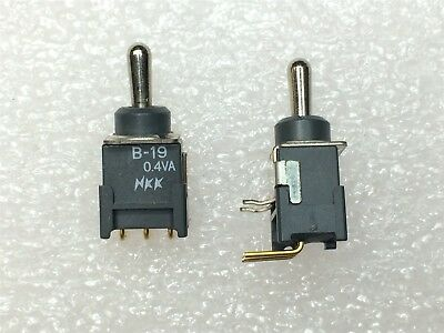 NKK Toggle Switch DPDT ON-ON RED LED Logic Level 0.4VA @ 28V AC//DC